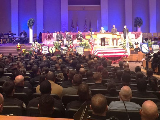 The funeral for Detroit Police Officer Darren Weathers