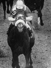 Dancer's Image in the 1968 Kentucky Derby.