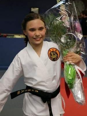Rumson native Morgan Chandler makes local history as youngest female to receive senior karate black belt in renowned local dojo at 10 years old