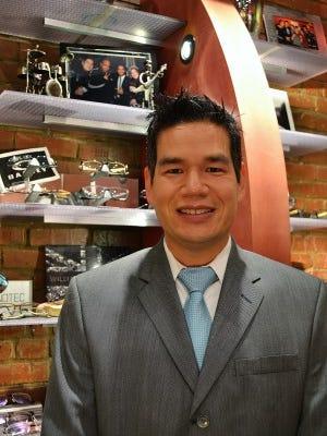 Dr. David Shen is owner of Vue Optique in downtown Franklin.