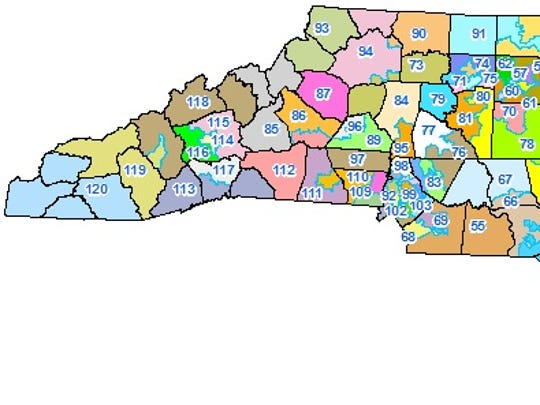This is the district map for N.C. House seats.