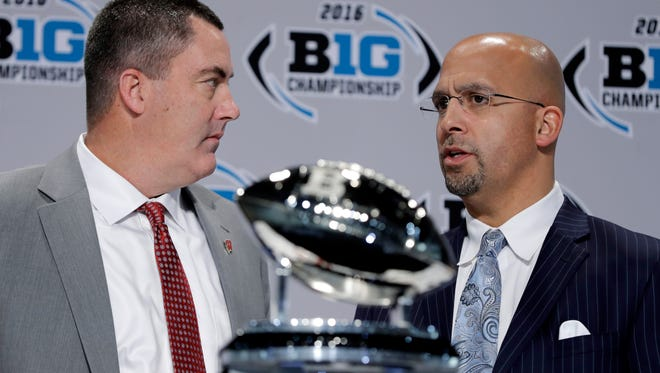 Wisconsin head coach Paul Chryst praised Penn State and James Franklin for the Lions' continual improvement during the season. The two worked a camp together when Chryst coached Pitt but don't know each other well.  Now, they meet for the Big Ten title.