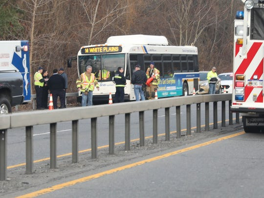 A crash on the southbound Route 9A near the entrance