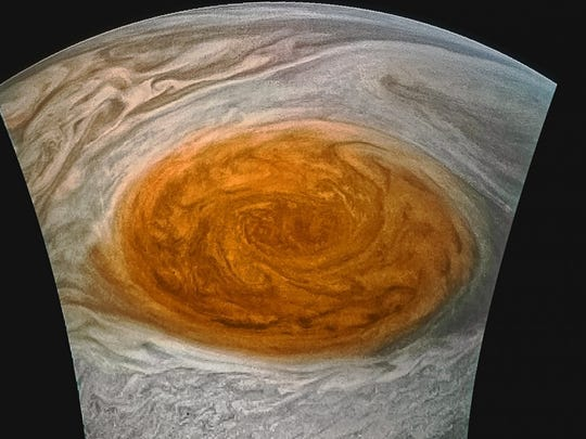 The Juno spacecraft took this image of Jupiter's Great