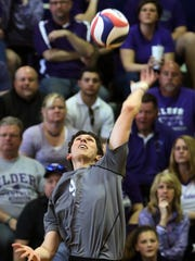 Elder captain Jake Luebbe slams home a winner.