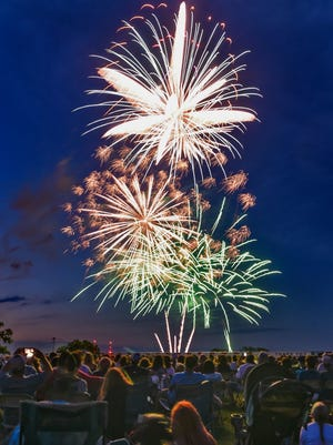 The sky is filled with colors during the July 4, 2017 St. Cloud fireworks display.