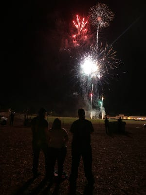 Simi Valley's 2014 annual Fourth of July fireworks show at Rancho Santa Susana Community Park.