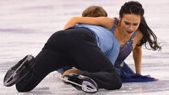 Madison Chock and Evan Bates in the free dance event