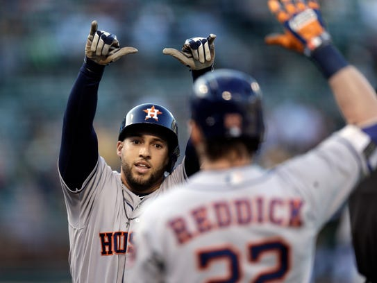 George Springer, left, is one of the most important