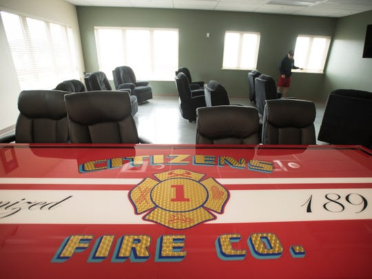 Palmyra Citizens Fire Co. has a new home at 35 W. Walnut St., in Palmyra. A recreational room, complete with television and comfortable chairs allow firefighters to relax inbetween calls.