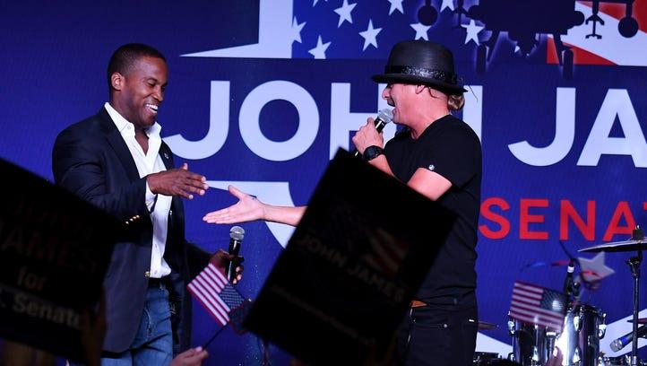Kid Rock joins GOP Senate hopeful at Novi campaign event