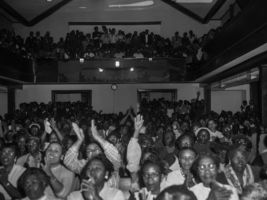Historic photos of mass meetings at Holt Street Baptist