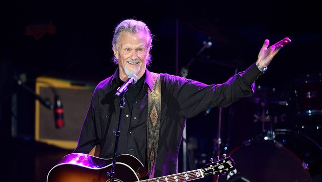 """Kris Kristofferson performs """"Sunday Morning Coming Down"""" during the NSAI 50 Years of Songs concert at the Ryman Auditorium in Nashville on Sept. 20, 2017."""
