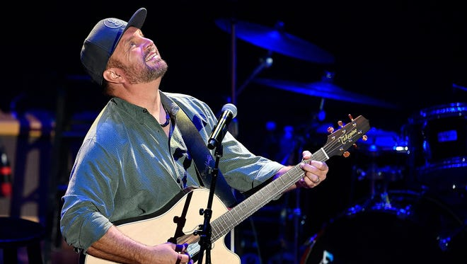 """Garth Brooks performs """"If Tomorrow Never Comes"""" during the NSAI 50 Years of Songs concert at the Ryman Auditorium Sept. 20, 2017."""