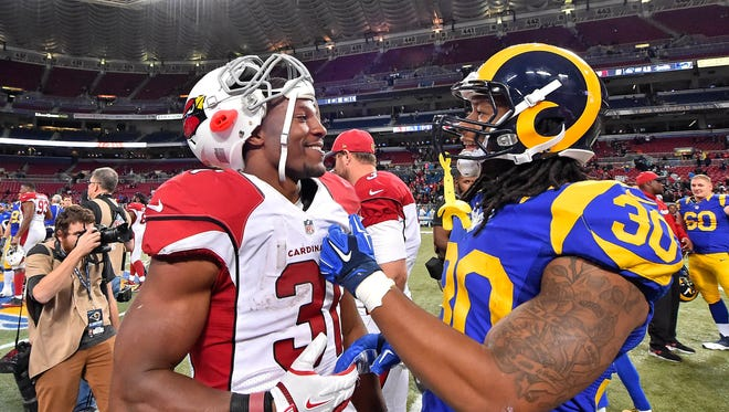 Arizona Cardinals running back David Johnson appears to be a fan of Todd Gurley's new contract with the Los Angeles Rams.