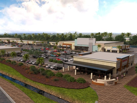 A rendering of the forthcoming Daniels Marketplace in south Fort Myers, which will be home to Whole Foods and Keke's Breakfast Cafe, among several other tenants.