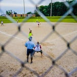 Slow-pitch softball was once an easy cash cow for parks and recreation departments. Its decline has been steady locally and elsewhere, though Gier Park in Lansing (pictured) is still a bustling place several nights a week all summer.