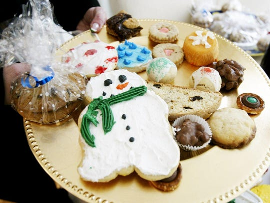 A cookie tray is part of holiday entertaining.