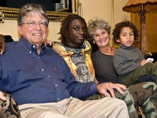 Roy Bolden (from left), Kiraji Maewether, Pat Bolden and family friend Xavie.jpg