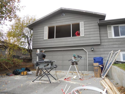 House being insulated