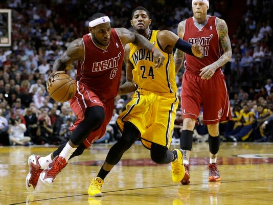 APTOPIX Pacers Heat Basketball