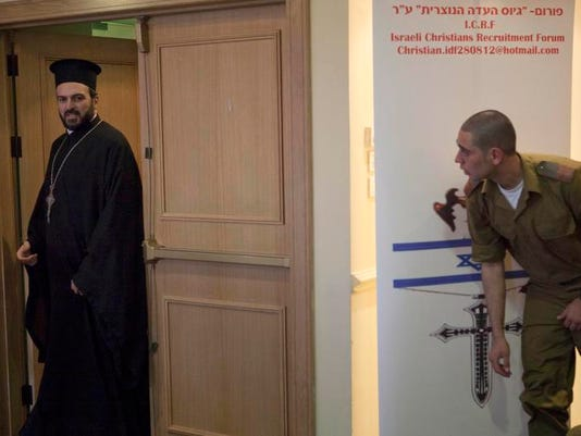 Mideast Israel Recruiting Christians (3)