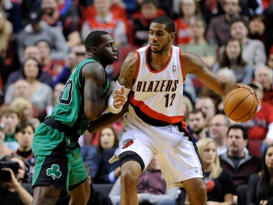 Celtics Trail Blazers Basketball