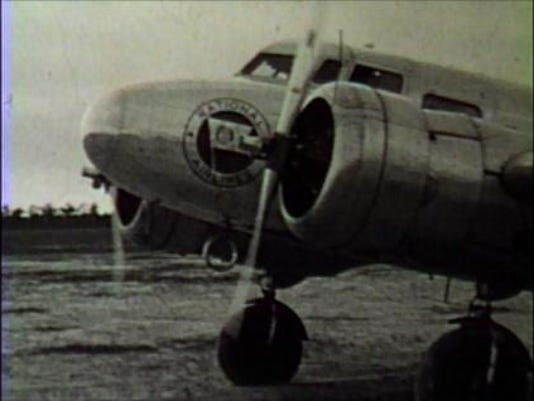 National Airlines plane at Fort Myers Airport (now Page Field) 1938.png