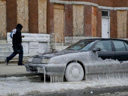 APTOPIX Deep Freeze Maryland