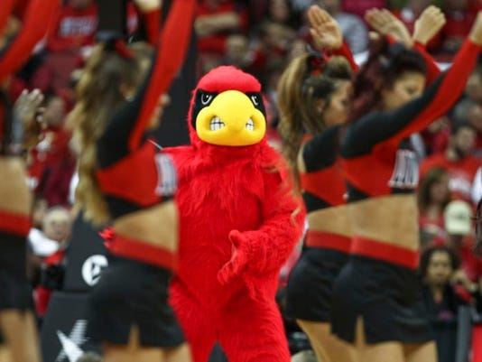 go behind the mask of mascots from louisville kentucky and wku