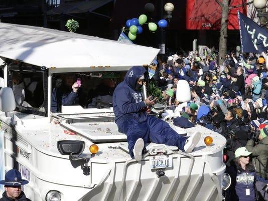 Seahawks Parade Football