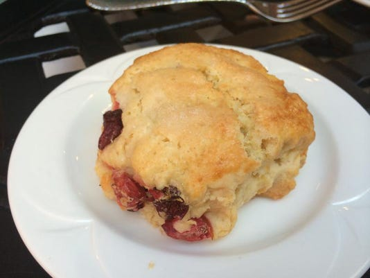 Cranberry scone from Jane's Cafe.JPG