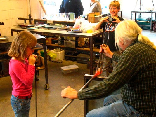 kids blowing glass at Hudson Beach Glass.jpg