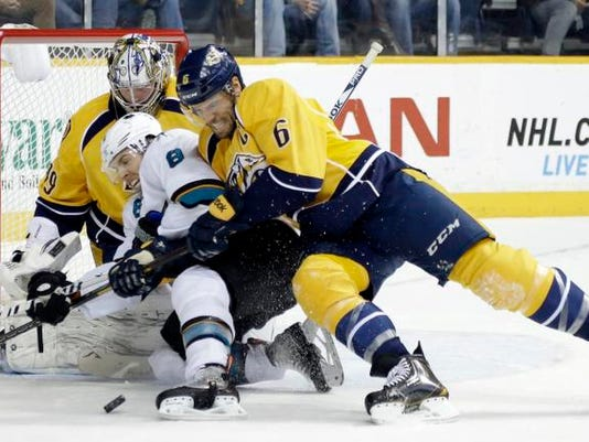 Sharks Predators Hockey