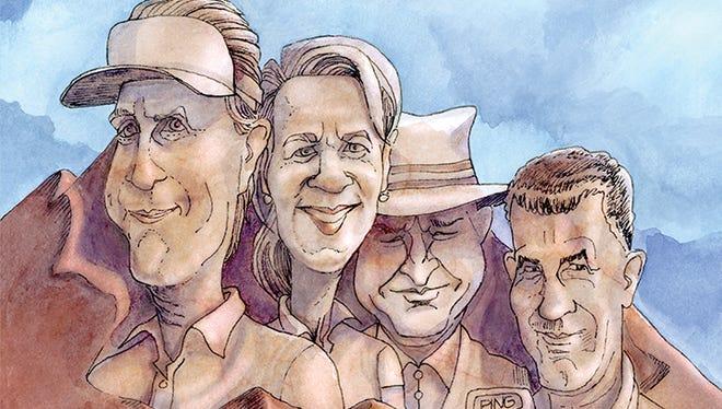 Mt. Rushmore of Arizona golf: Phil Mickelson Annika Sorenstam, Bob Goldwater, Sr., Karsten Solheim.