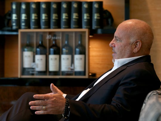 Constellation Brands, CEO Rob Sands,  in his office in Victor.