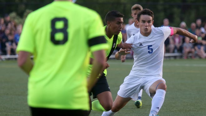 Pearl River plays Lakeland during Westchester vs. Rockland Challenge boys soccer game at World Class Soccer Complex in Orangeburg on Sept. 5, 3016.