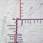 This map shows proposed new express routes for IndyGo.