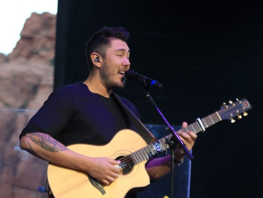 Justin Young opens for his fiancée, Colbie Caillat,