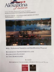 This is the front cover of the RADD proposal for downtown development.