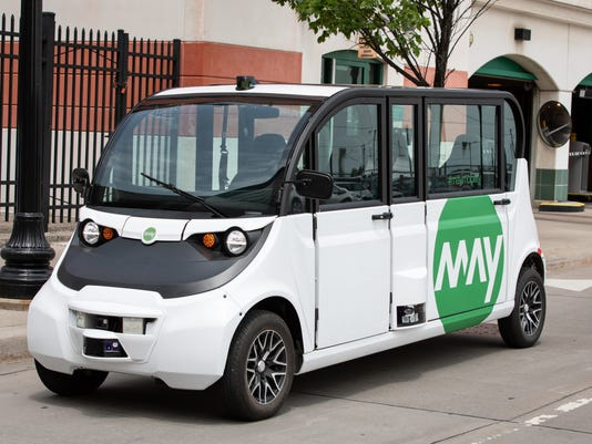 May Mobility self-driving car ion Detroit