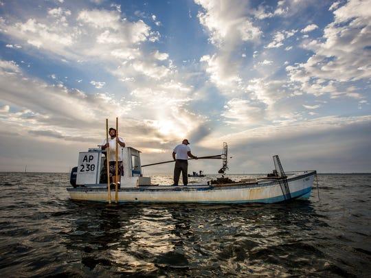 Oystermen on Apalachicola Bay