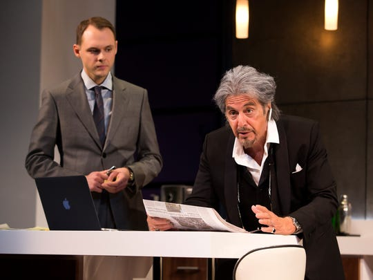 "Christopher Denham and Al Pacino in a scene from ""China Doll"" on Broadway at the Schoenfeld Theatre."