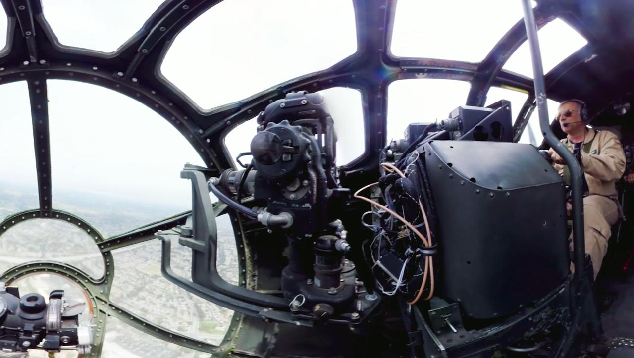 B 29 Inside Fly in the amazing B-2...