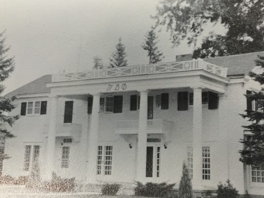 The Pi Beta Phi sorority house in the 1950s.
