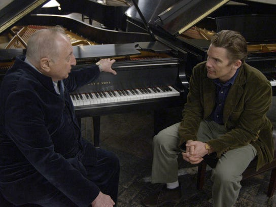 "Seymour Bernstein and Ethan Hawke in Hawke's ""Seymour:"