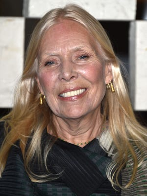 Joni Mitchell is unconscious in the hospital, according to reports.