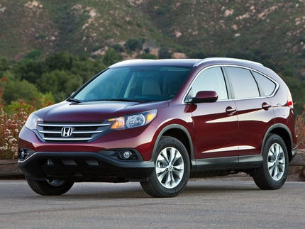 This year's Edmunds.com Top 10 Best Cars for Short Drivers includes the Honda CR-V, best-selling SUV in the USA, starting at $23,625 (2013 Honda CR-V EX-L AWD shown here).