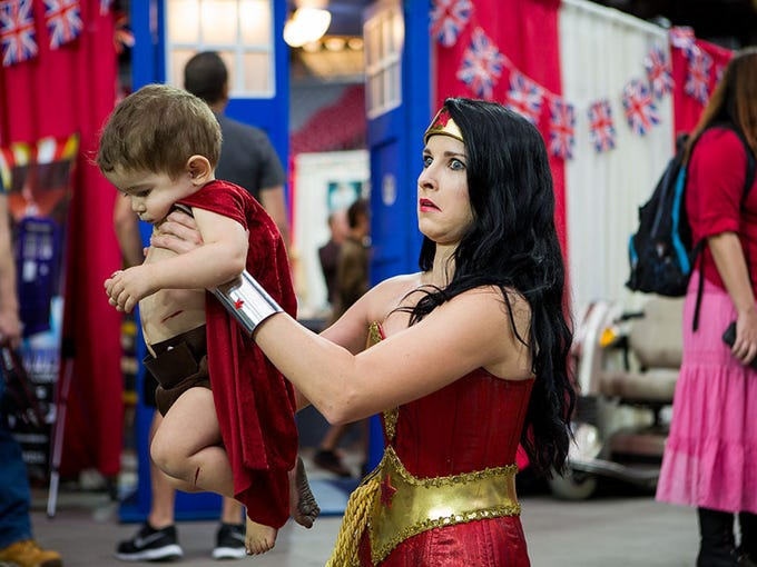 Apparently Wonder Woman doesn't do dirty diapers. Sarah