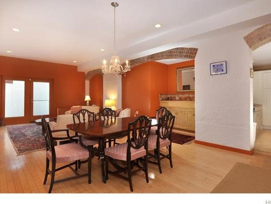 One of the dining rooms in the residential condos at